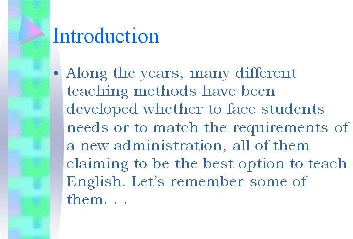 پاورپوئنت مرور روشهای تدریس- Review of teaching Methods