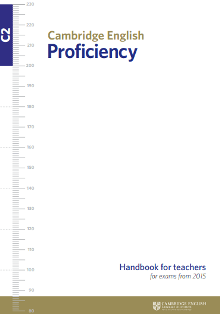 cambridge english profiency handbook for teacher