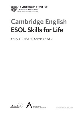 Cambridge English ESOL Skills for Life