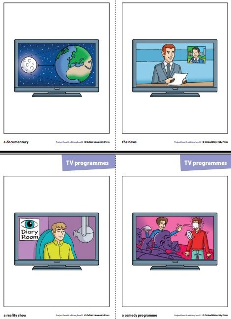 TV program flash card