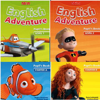 new english adventure books